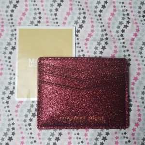 Michael Kors Glitter Lg Card Case Holder Wallet